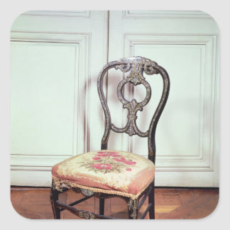 Chair, Second Empire Style Square Stickers