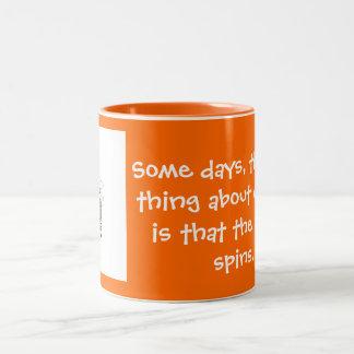 chair spins Two-Tone coffee mug