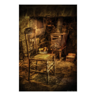 Chair - The chair and the stove Print