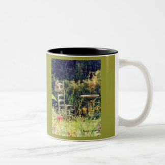 'Chair with Hat in Garden' Mug