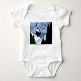 Chairlift Full of Skiers Baby Bodysuit
