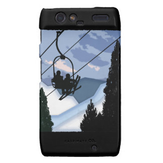 Chairlift Full of Skiers Droid RAZR Cases