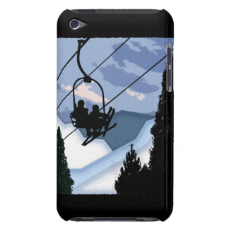 Chairlift Full of Skiers iPod Case-Mate Case