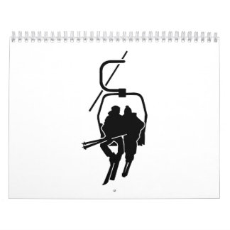 Chairlift ski lift calendar
