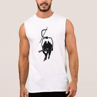 Chairlift ski lift sleeveless t-shirt