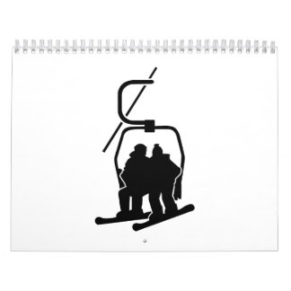 Chairlift snowboarder calendars