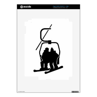 Chairlift snowboarder iPad 2 decals