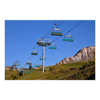 Chairlifts at La Plagne in France Poster
