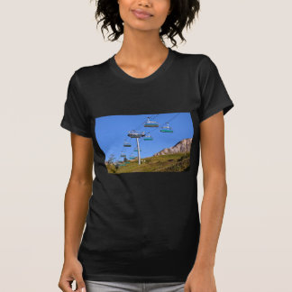 Chairlifts at La Plagne in France Tee Shirts