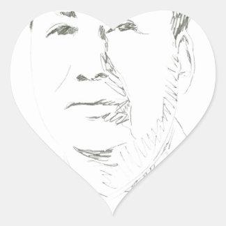 Chairman Mao China Heart Sticker