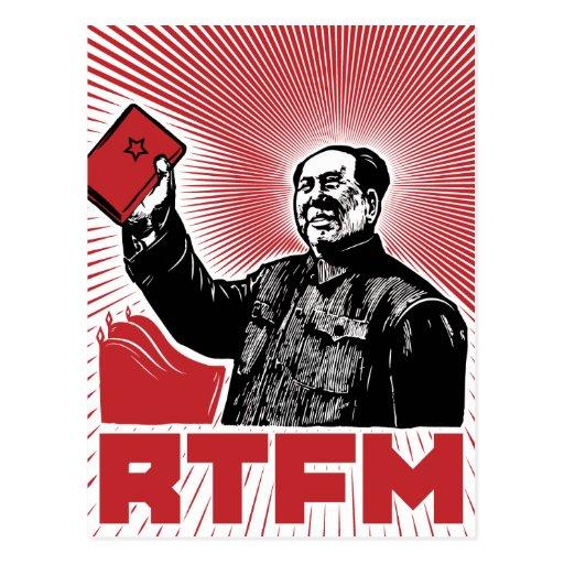 chairman mao rtfm little red book postcards