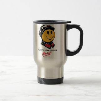 Chairman Mao Smiley Face - China:Always Low Prices Travel Mug