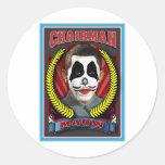 Chairman Maow Round Sticker