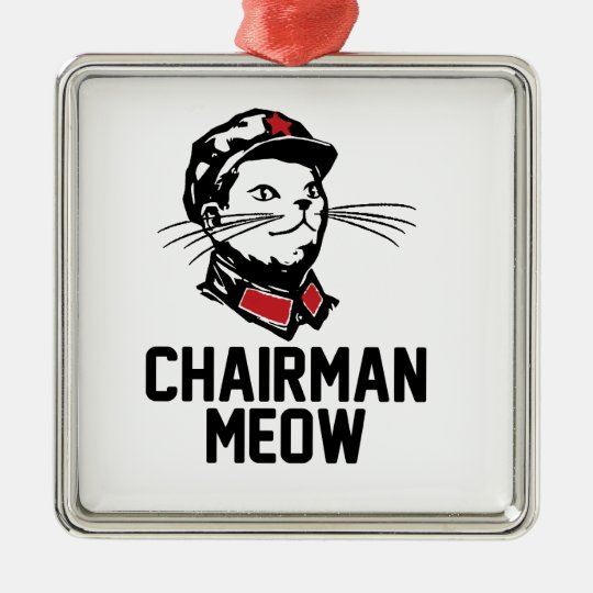 Chairman Meow (Mao) Design Metal Ornament