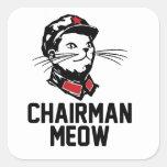 Chairman Meow (Mao) Design Stickers
