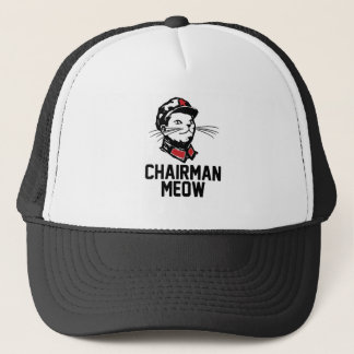 Chairman Meow (Mao) Design Trucker Hat