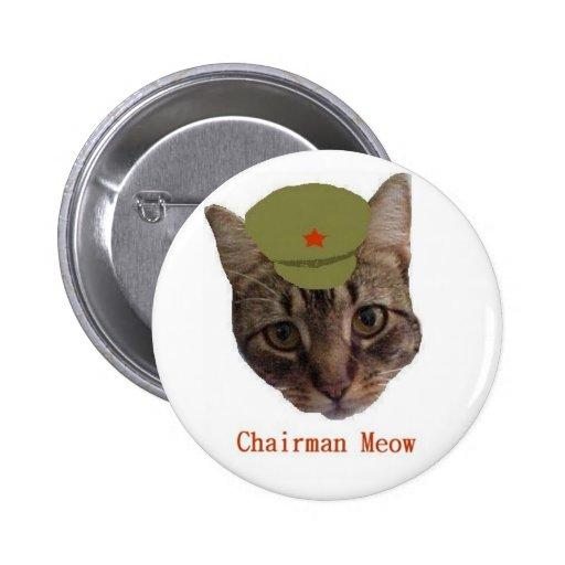Chairman Meow Pinback Button
