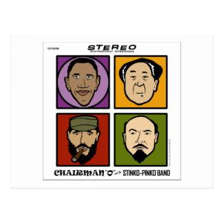 Chairman O and the Stinko Pinko Band Postcard