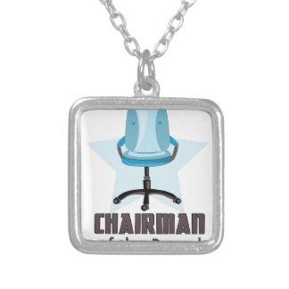 Chairman of Board Square Pendant Necklace