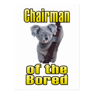 Chairman of the Bored Postcard