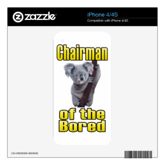 Chairman of the Bored iPhone 4 Skins