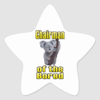 Chairman of the Bored Star Sticker