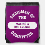 Chairman of the Making a Difference Committee Backpack