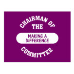 Chairman of the Making a Difference Committee Post Card