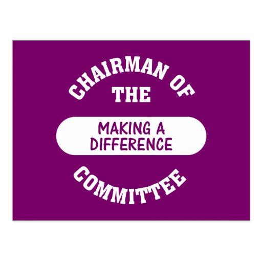 Chairman of the Making a Difference Committee Postcard