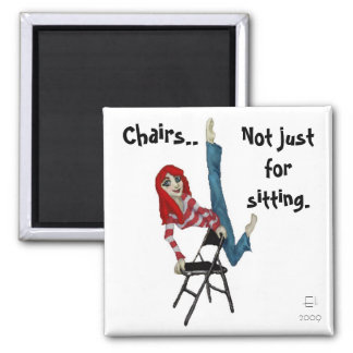 Chairs.. 2 Inch Square Magnet