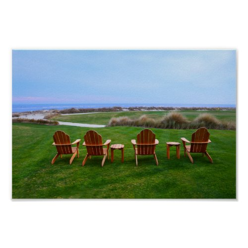 Chairs at the Eighteenth Hole, Kiawah Island Poster