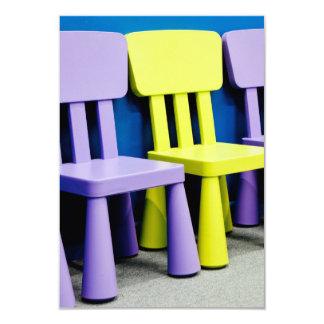 Chairs for kids 3.5x5 paper invitation card
