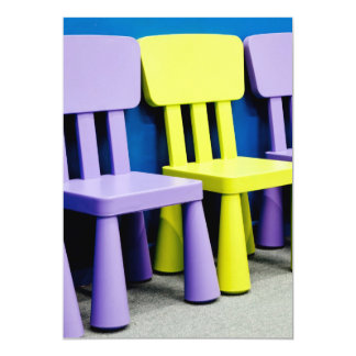 Chairs for kids 5x7 paper invitation card