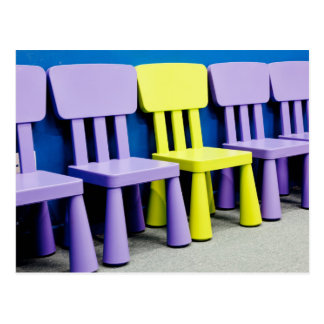 Chairs for kids postcard