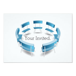 Chairs in a Circular Formation Invitation