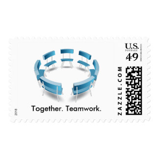 Chairs in a Circular Formation Postage Stamp