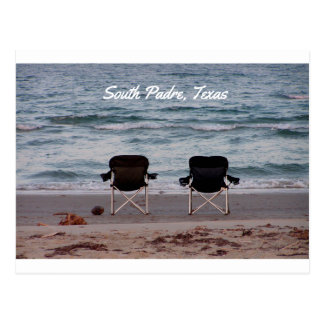 Chairs on Beach South Padre Postcard