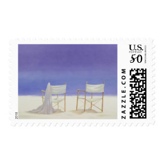 Chairs on the beach 1995 postage