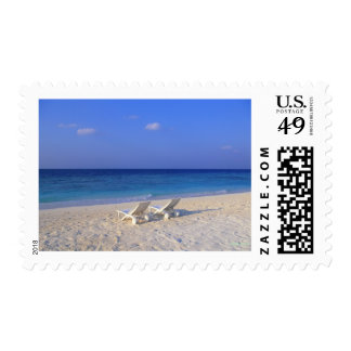 Chairs on the beach - customizable postage