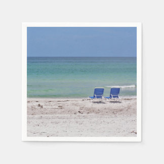 Chairs on the Beach Paper Napkin