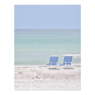 Chairs on the Beach Stationary Letterhead
