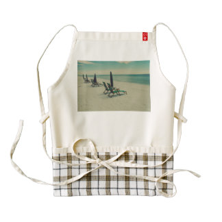 Chairs on the beach zazzle HEART apron