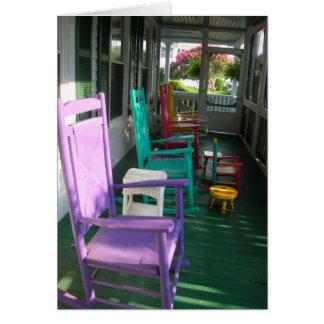 Chairs on the porch, Virginia Beach, VA Cards
