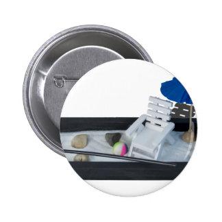 ChairUmbrellaZenSandGarden011815.png Pinback Button