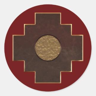 Chakana Cross Classic Round Sticker