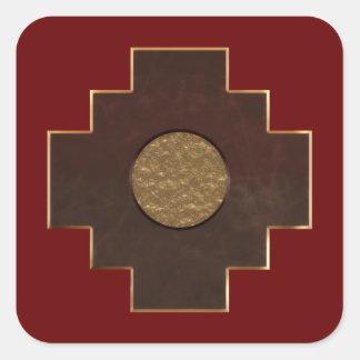 Chakana Cross Square Sticker