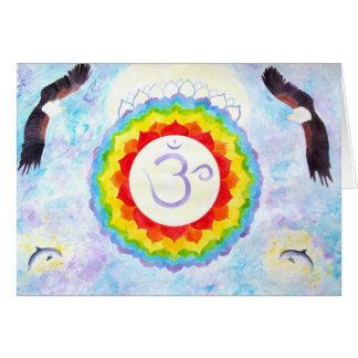 chakra7 greeting card