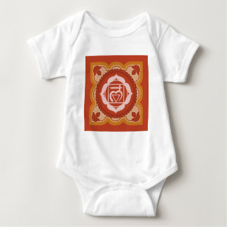 """Chakra 1 – 1st Chakra """"Root"""" Muladhar Baby Bodysuit"""