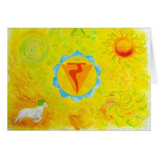 chakra 3 greeting card