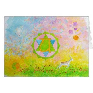 chakra 4 greeting card